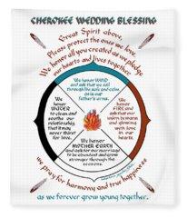 Cherokee Wedding Blessing Fleece Blanket