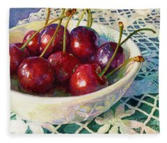 Cherries Jubilee Fleece Blanket