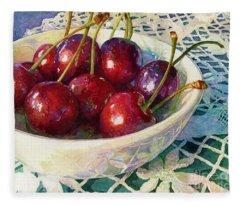 Cherries Jubilee Fleece Blanket