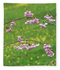 Cherry Accolade Blossom Fleece Blanket