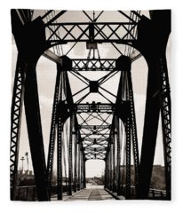 Cherry Avenue Bridge Fleece Blanket