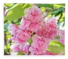 Cherry Blossom Cluster Fleece Blanket