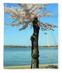 Cherry Blossom Portrait Fleece Blanket