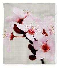 Cherry Blossoms 1- Art By Linda Woods Fleece Blanket