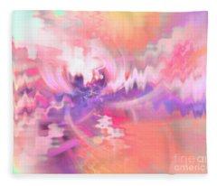 Cherry Blossoms Fun Fleece Blanket