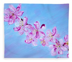 Cherry Blossoms. Thank You Collection Fleece Blanket