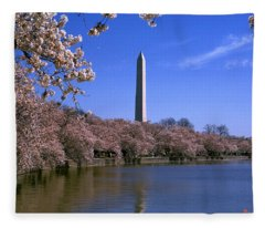 Cherry Blossoms On The Tidal Basin 15j Fleece Blanket