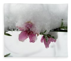 Cherry Blossoms. Snowed In Fleece Blanket