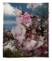 Cherry Blossoms Vertical Fleece Blanket