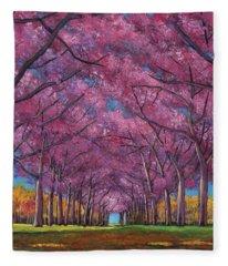 Cherry Lane Fleece Blanket