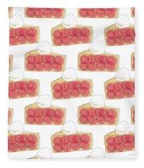 Cherry Pie- Art By Linda Woods Fleece Blanket