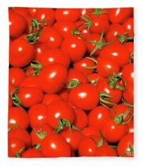 Cherry Tomatoes Fleece Blanket