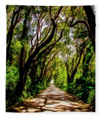 Cherry Tree Hill Fleece Blanket