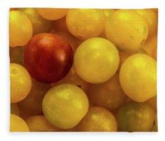 Cherry Yellow Tomatoes Fleece Blanket