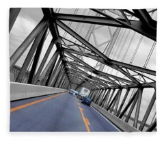 Chesapeake Bay Bridge Fleece Blanket