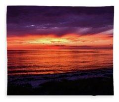 Chesapeake Bay Sunset Fleece Blanket