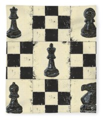 Chess Pieces Fleece Blanket