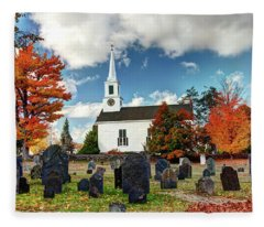 Chester Village Cemetery In Autumn Fleece Blanket