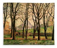 Chestnut Trees At The Jas De Bouffan Fleece Blanket