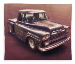 American Car Photographs Fleece Blankets