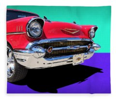 Chevrolet Bel Air Color Pop Fleece Blanket
