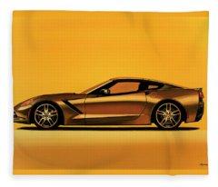 Chevrolet Corvette Stingray 2013 Painting Fleece Blanket