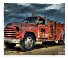 Chevrolet Fire Truck Fleece Blanket