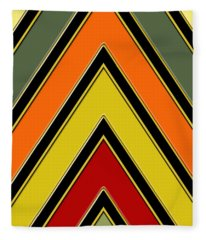 Chevrons With Color - Vertical Fleece Blanket