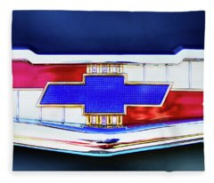 Chevy's Fifties Bowtie Fleece Blanket