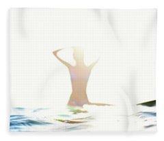Chica Agua Fleece Blanket