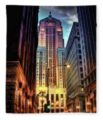Chicago Board Of Trade Fleece Blanket