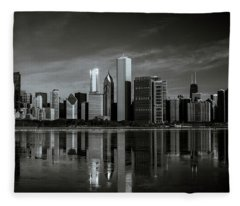 Chicago Lake Front Fleece Blanket