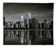 Chicago Lake Front Fleece Blanket