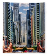 Chicago Lasalle Street Fleece Blanket