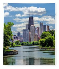 Chicago Lincoln Park Lagoon Fleece Blanket