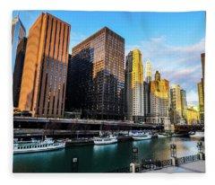 Chicago Navy Pier Fleece Blanket