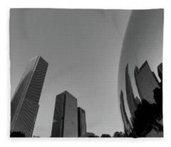 Chicago Reflections Fleece Blanket