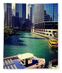 City Of Chicago - River Tour Fleece Blanket