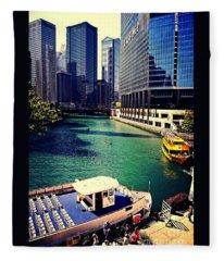 City Of Chicago - River Tour Fleece Blanket