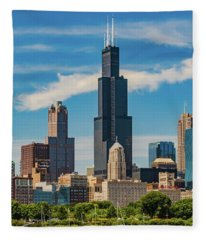 Chicago Skyline Fleece Blanket