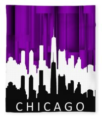 Chicago Violet In Negative Fleece Blanket