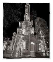 Chicago Water Tower Fleece Blanket