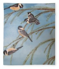 Chickadee Party Fleece Blanket