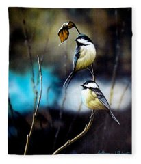 Chickadees Fleece Blanket