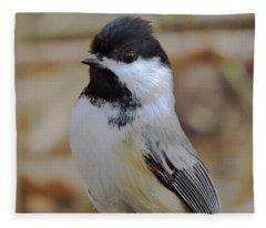 Chickadee's Winter Reverie Fleece Blanket