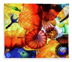 Chihuly Art Image Fleece Blanket