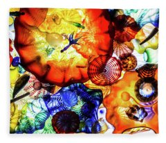 Chihuly Art Fleece Blanket