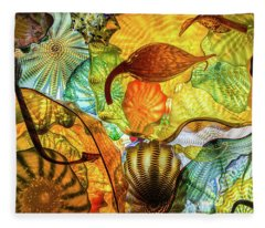 Chihuly Collage Fleece Blanket