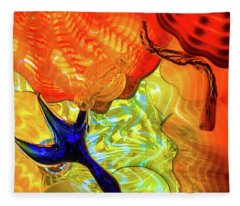 Chihuly Colors Fleece Blanket