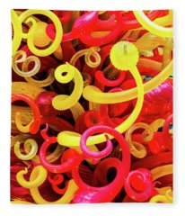 Chihuly Curls Fleece Blanket